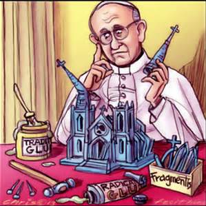Cartoon of Pope Francis