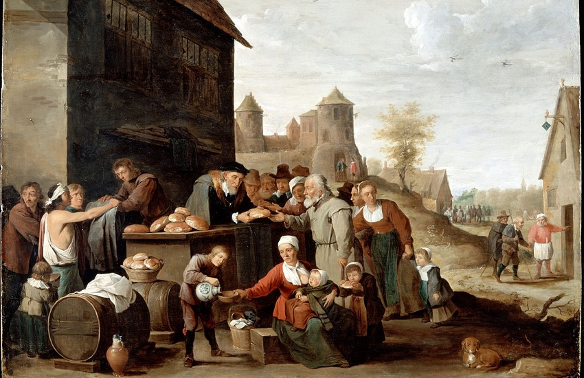 The Seven Corporal Works of Mercy by David Teniers the Younger