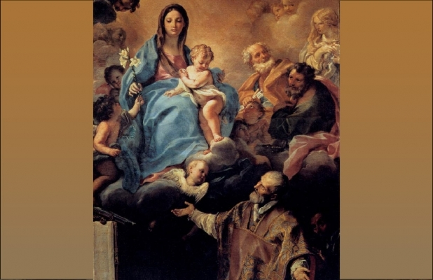 Carlo Maratta - The Virgin Appearing to St Philip Neri