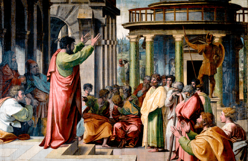 V&A - Raphael, St Paul Preaching in Athens (1515)