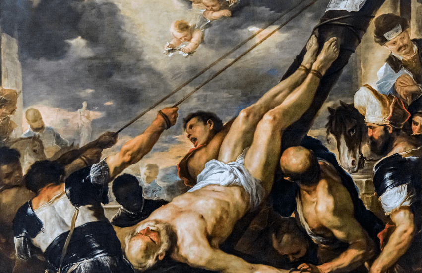 Accademia - Crucifixion of St. Peter by Luca Giordano