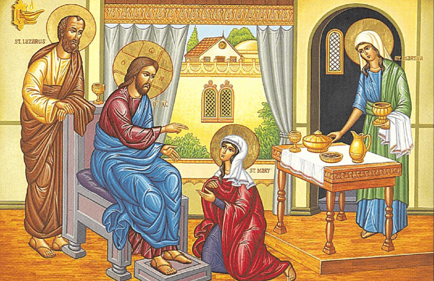 St. Lazarus, St. Mary, and St. Martha