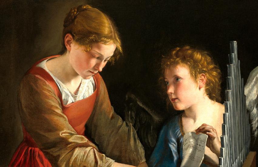 Saint Cecilia and an Angel by Orazio Gentileschi