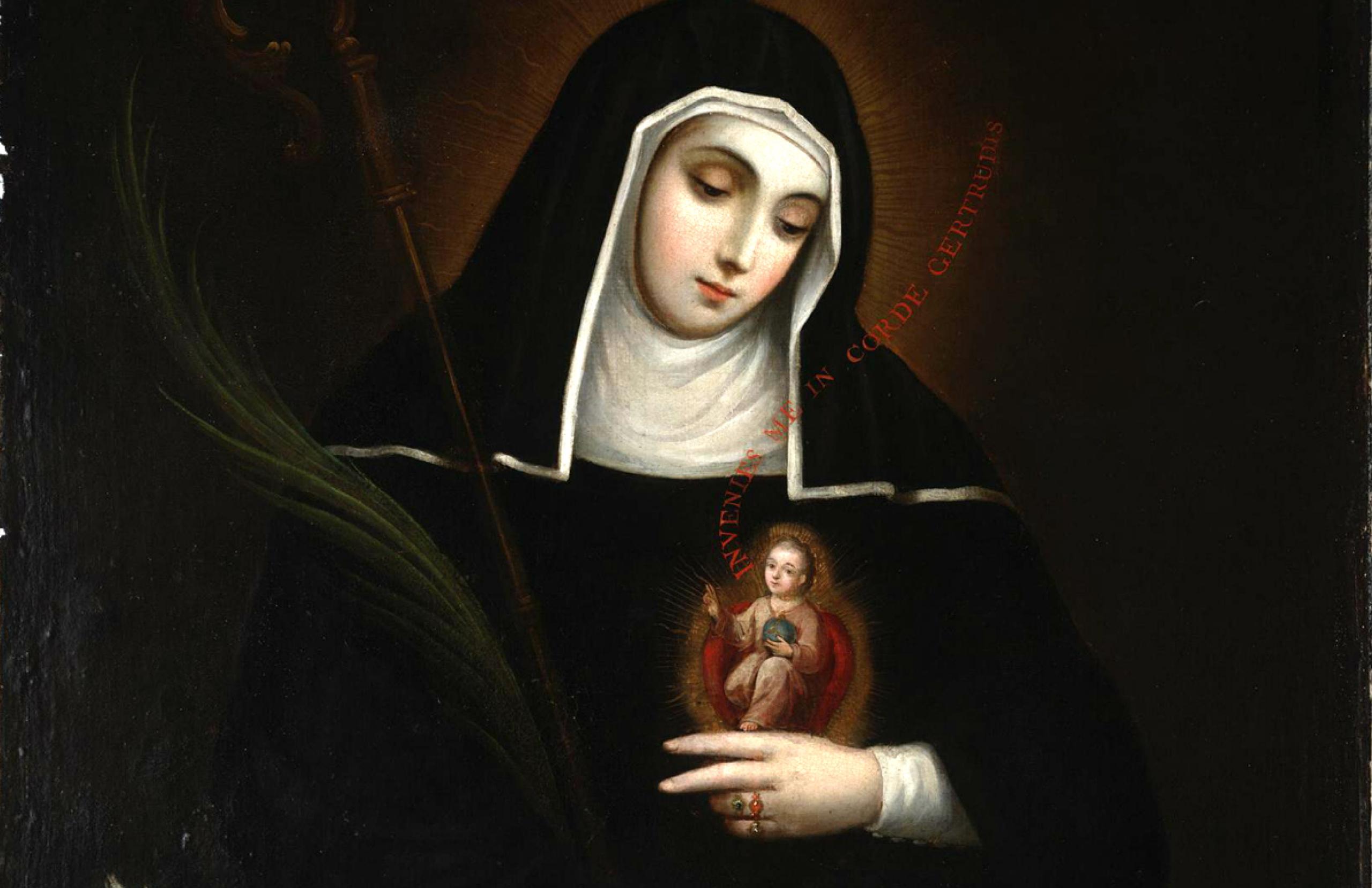 Saint Gertrude by Miguel Cabrera