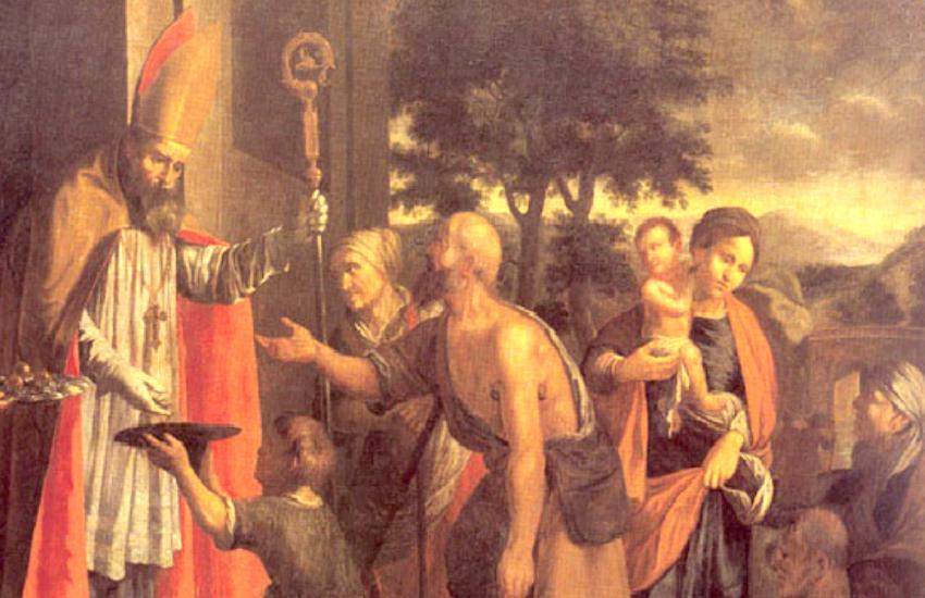 Heinsch, Jan Jiri - Sv. Mikulas udeluje almuzny