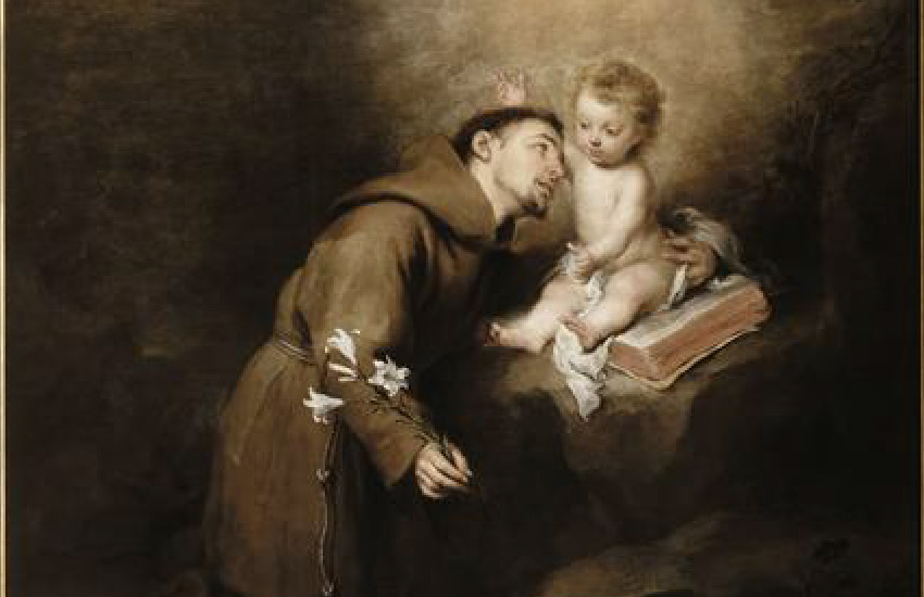 Saint Anthony of Padua and the Infant Jesus by Bartolome Esteban Murillo