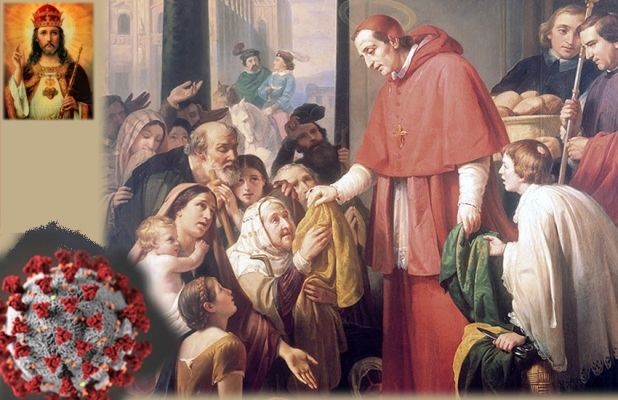 The Kingship of Christ and COVID-19. St. Charles Borromeo assisting the faithful