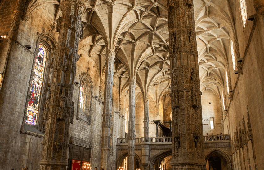 Inside of Monastery in Portugal