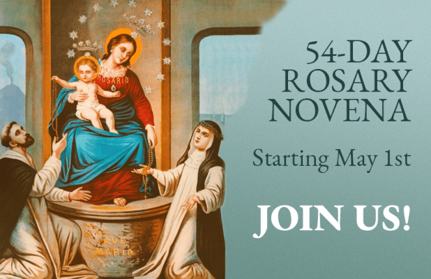 54-day Rosary Novena starting May 1st. Join us!