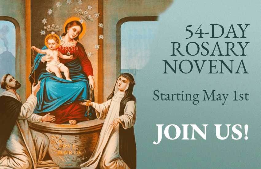 It is an image of 54 Day Rosary Novena Printable intended for blessed virgin mary
