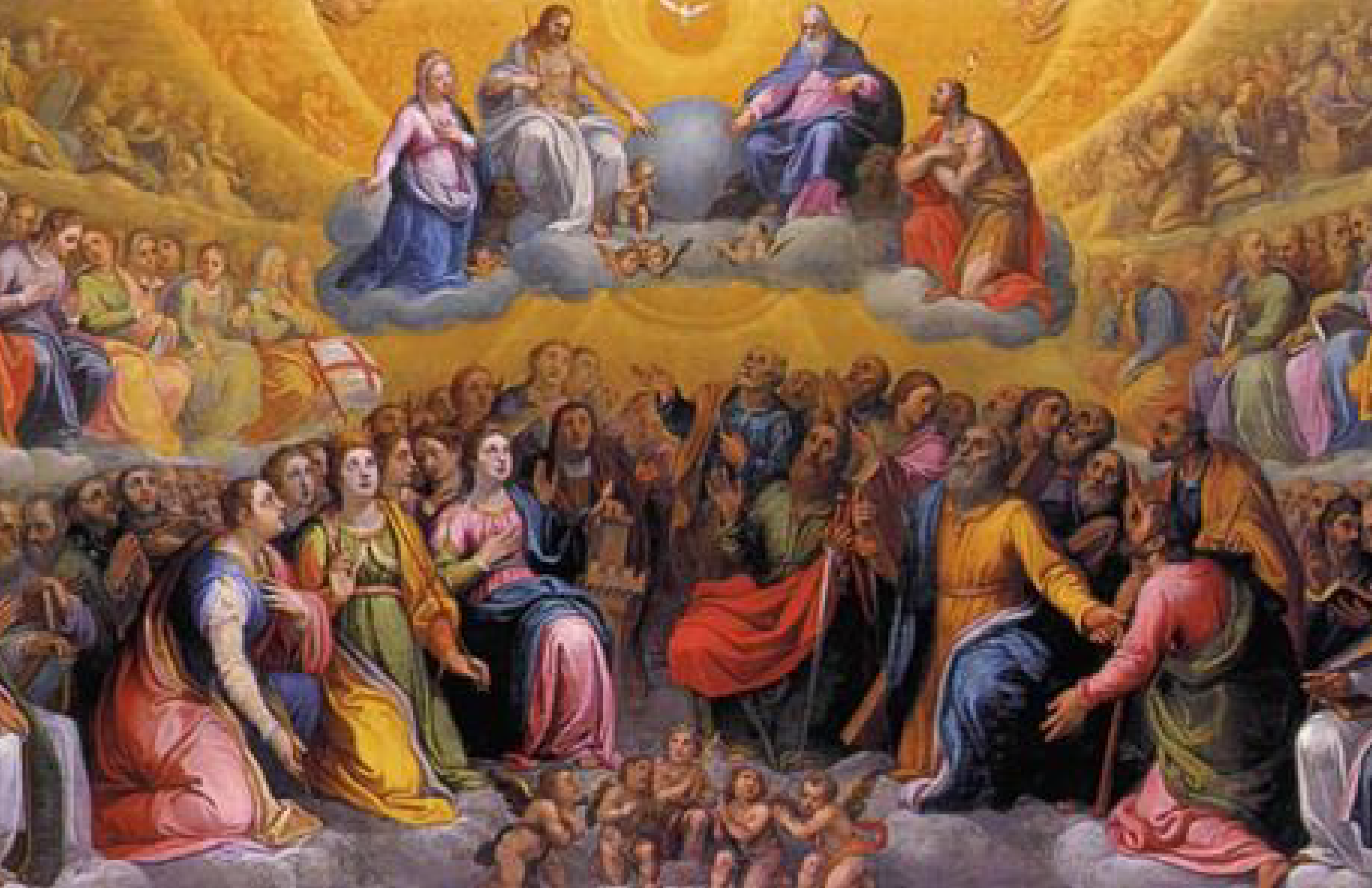 Saints in Heaven with the Blessed Trinity
