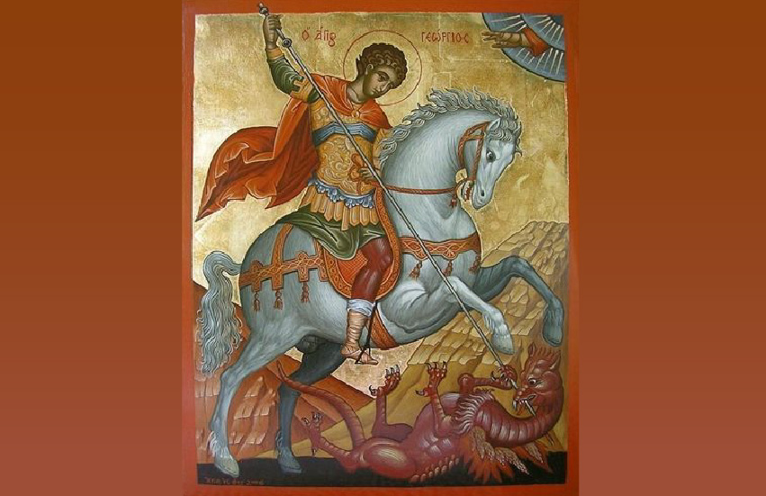St. George slaying a dragon