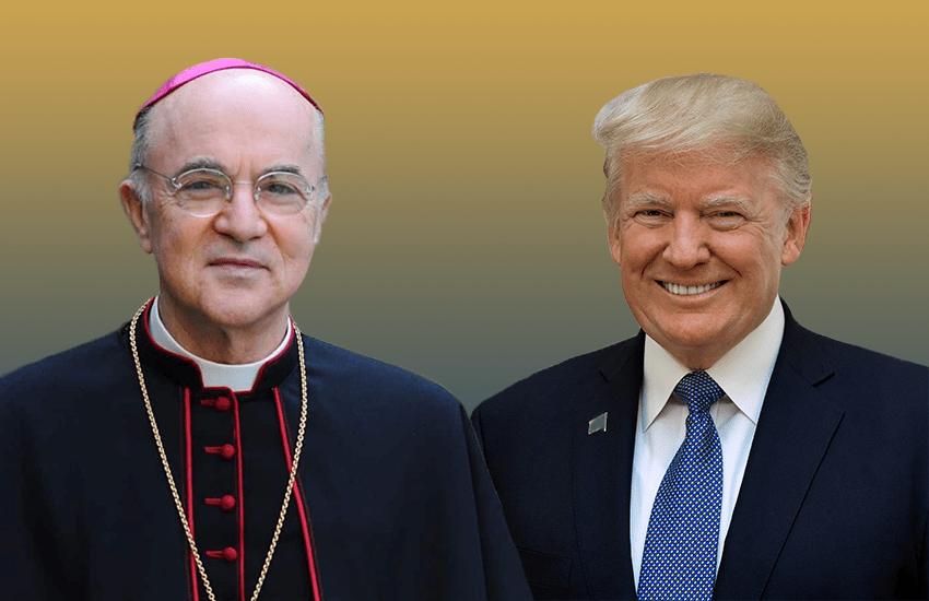 Archbishop Carlo Maria Viganò and President Donald Trump