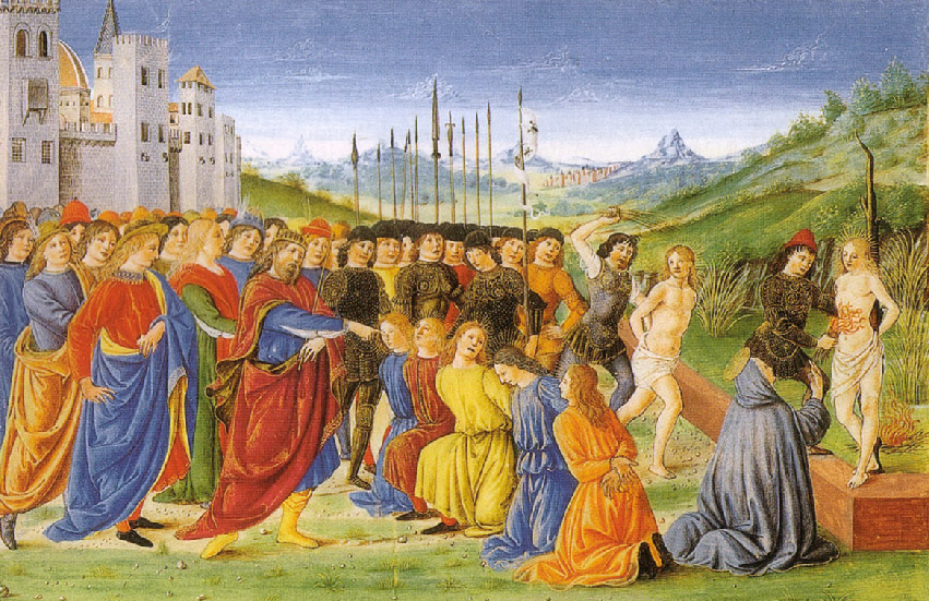 The Seven Holy Brothers being martyred