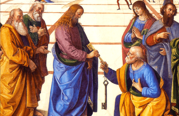 Our Lord giving the keys to Peter