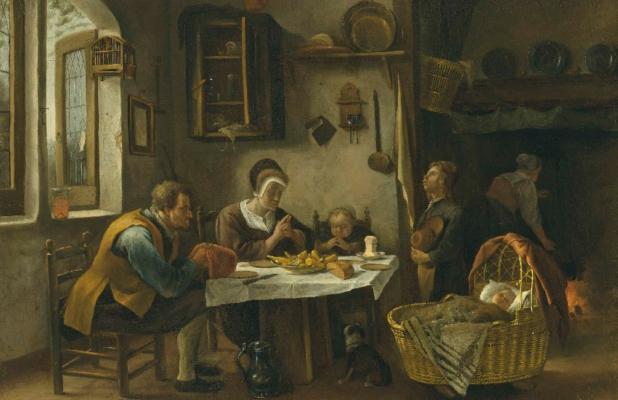 """Jan Steen, """"Prayer Before a Meal"""""""