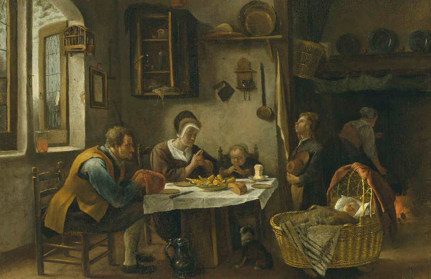 "Jan Steen, ""Prayer Before a Meal"""