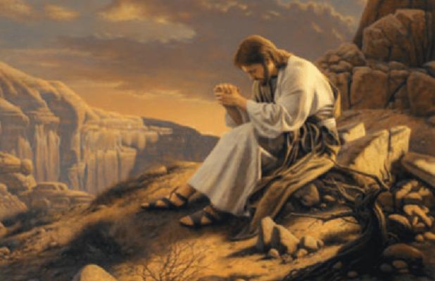 Jesus fasting in the desert