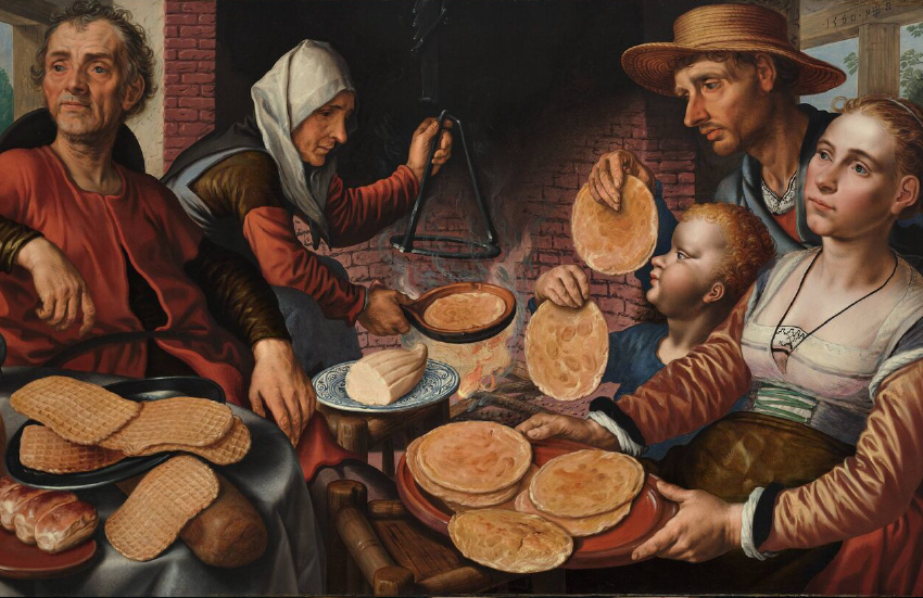 Family preparing for Lent by celebrating Pancake Tuesday