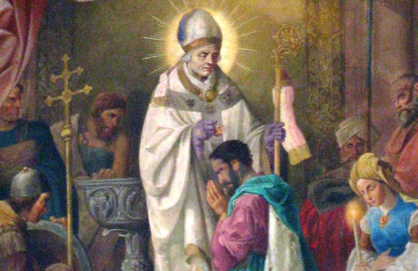 St._Remigius_in_Heuweiler,_Hochaltar_Taufe_Chlodwigs_dur…warzkopf