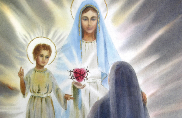 Our Lady and the Infant Jesus appearing to Sister Lucia